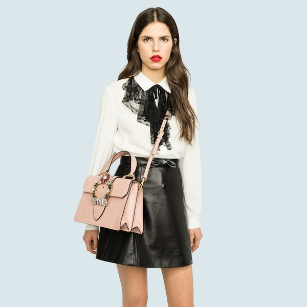 5c0d91ba726 Miu Lady Madras leather handbag. 3 colors