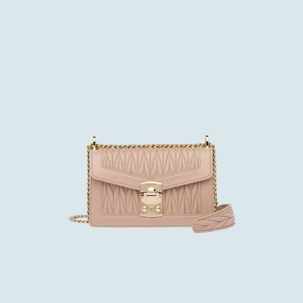 ddf852f4fa9 Miu Confidential matelassé leather shoulder bag