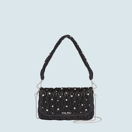 Matelassé leather bag with crystals  408e47a2c319f