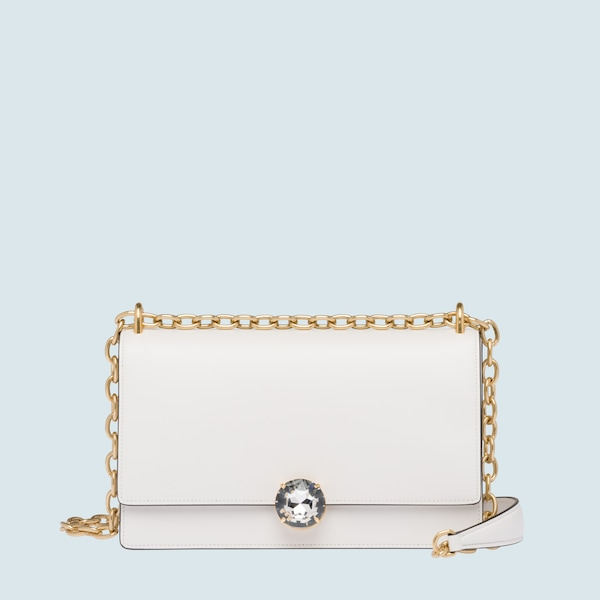 Miu Solitaire leather shoulder bag d86deec35949a