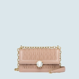 Miu Solitaire matelassé leather bag. CAMEO BEIGE 6a9dad1af4cdc