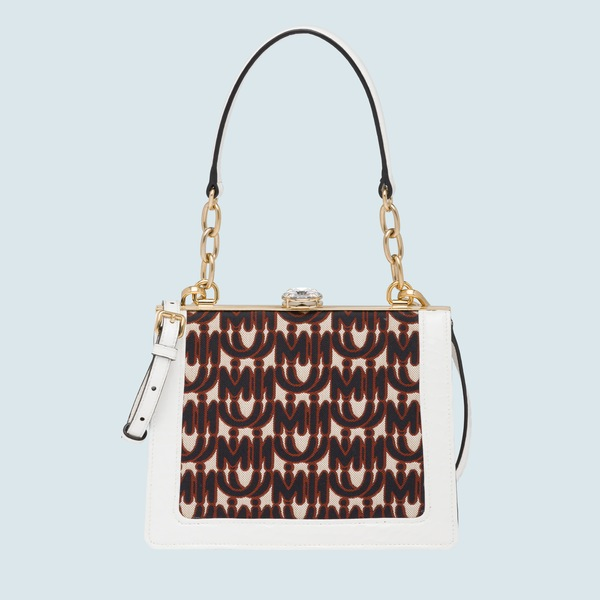 a7d667b1b26f Miu Solitaire jacquard and leather bag