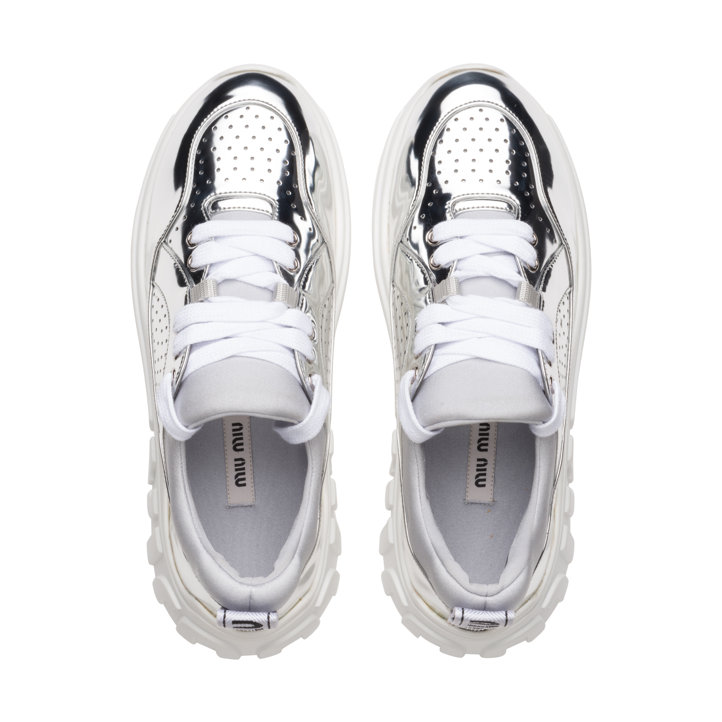 Miu Sneakers Funktionsgewebe Sneakers Run Miu Miu Metall Funktionsgewebe Run Run Metall OXiuwkZPT