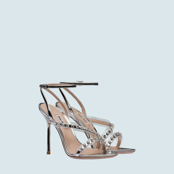 3382730e490 Metallic leather sandals
