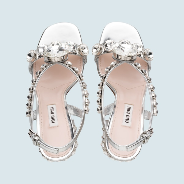 ecb7e49c11ac2 Embellished leather sandals 1 Embellished ...