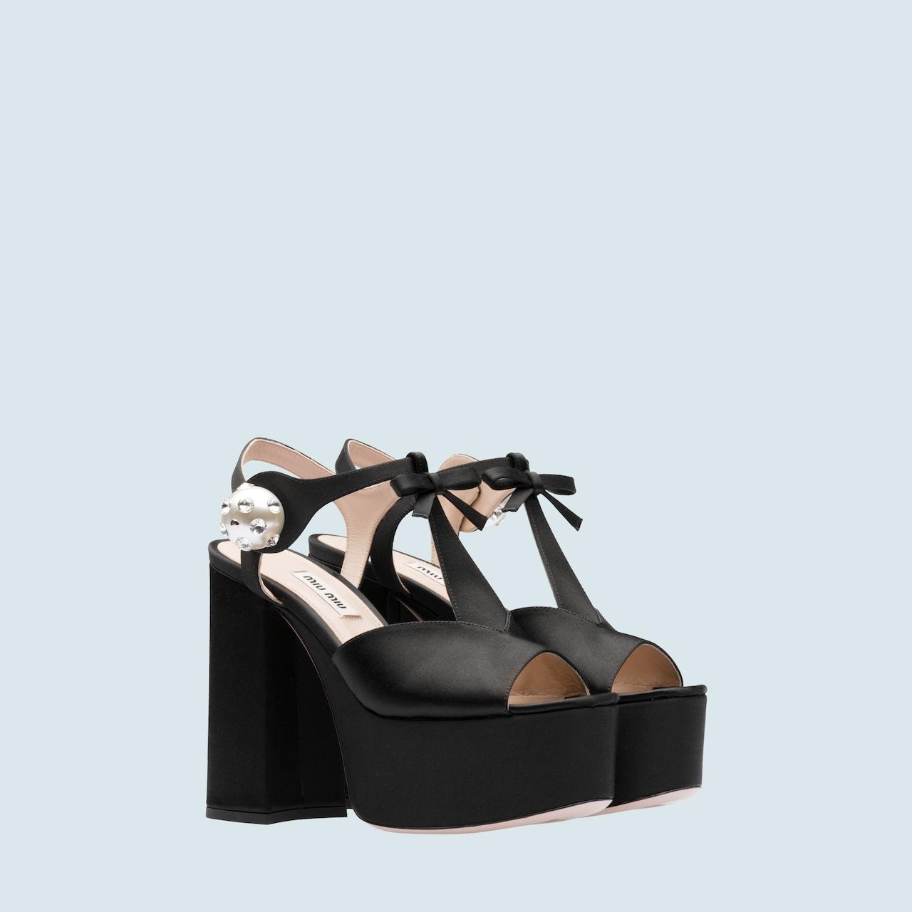 eab3ee46174 Satin platform sandals
