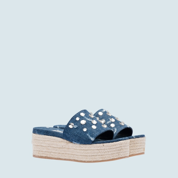 cf8ed7505 Denim platform sandals